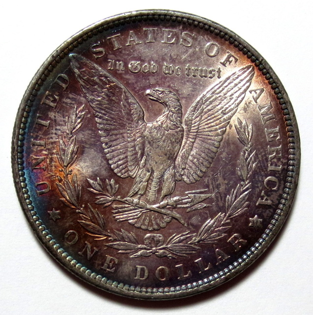 Ms64 Toned 1889 Morgan Silver Dollar